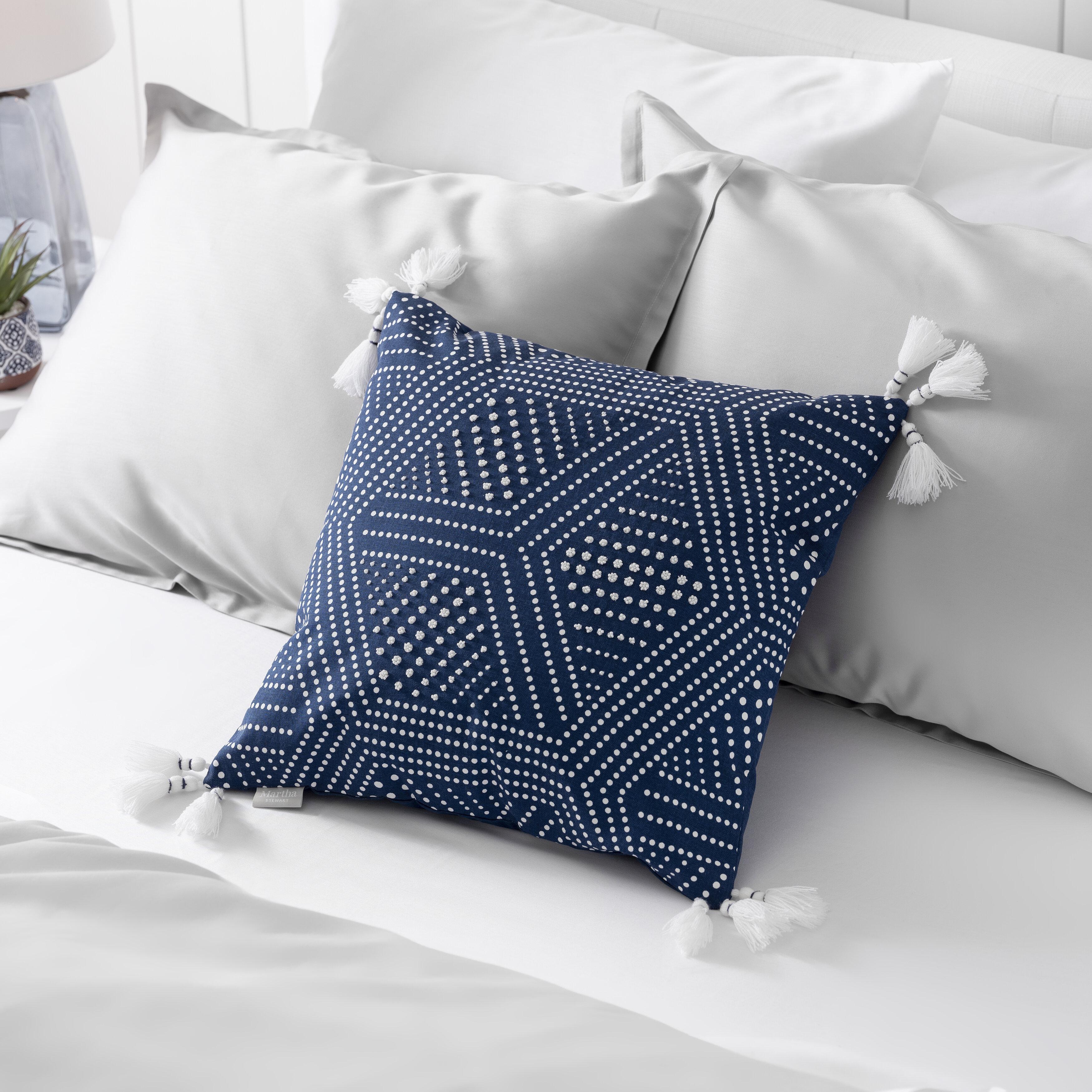 Martha Stewart Piper Cotton Geometric 18 Throw Pillow Cover Reviews Wayfair