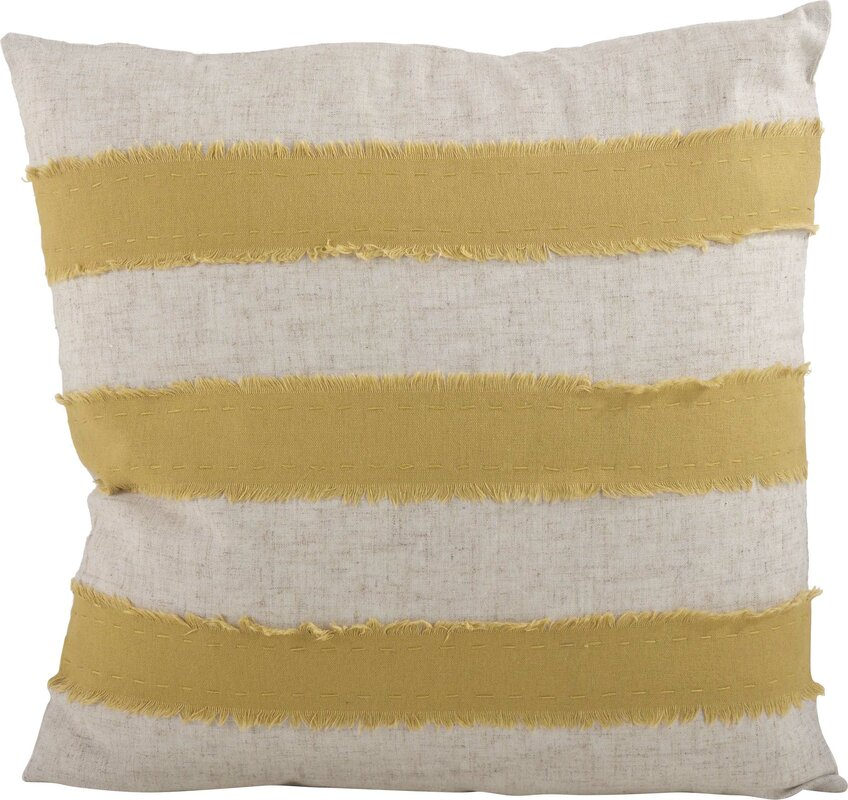 Palatka Banded 100% Cotton Throw Pillow