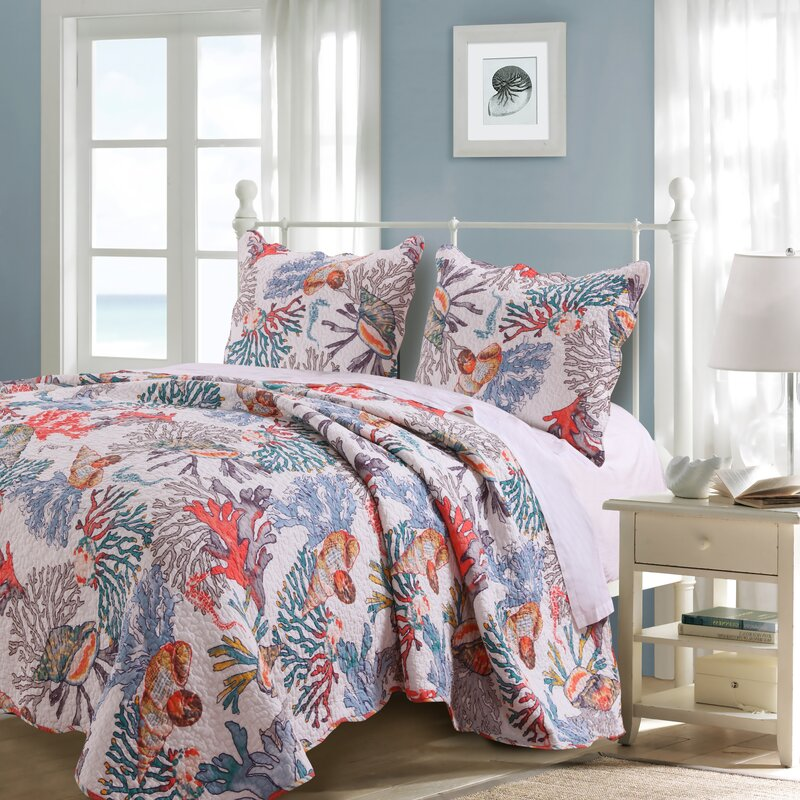 Barefoot Bungalow Atlantis Quilt Set Reviews Wayfair Inspiration Atlantis Bedroom Furniture