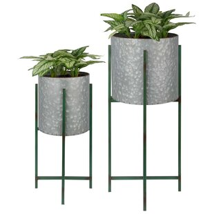 Dehon 2 Piece Metal Wall Planter Set By Borough Wharf