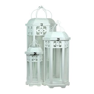 One Allium Way 3 Piece Wood Lantern Set