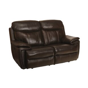 Bargain Goeltz Leather Power Reclining Loveseat Red Barrel Studio