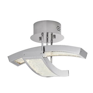Élan Lighting Crushed Ice™ 2-Light Semi Flush Mount