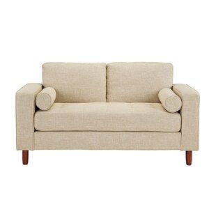 Jamar Loveseat With Bolster Pillows by George Oliver Read Reviews
