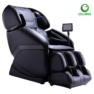 Active Leather Reclining Heated Full Body Zero Gravity Massage Chair with Ottoman