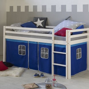 Amie European Single Mid Sleeper Bed With Curtain By Zoomie Kids