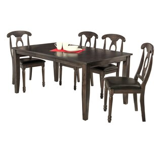 Haan 5 Piece Dining Set by Red Barrel Stu..