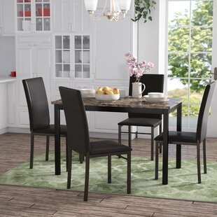 Jessee 5 Piece Dining Set Red Barrel Studio