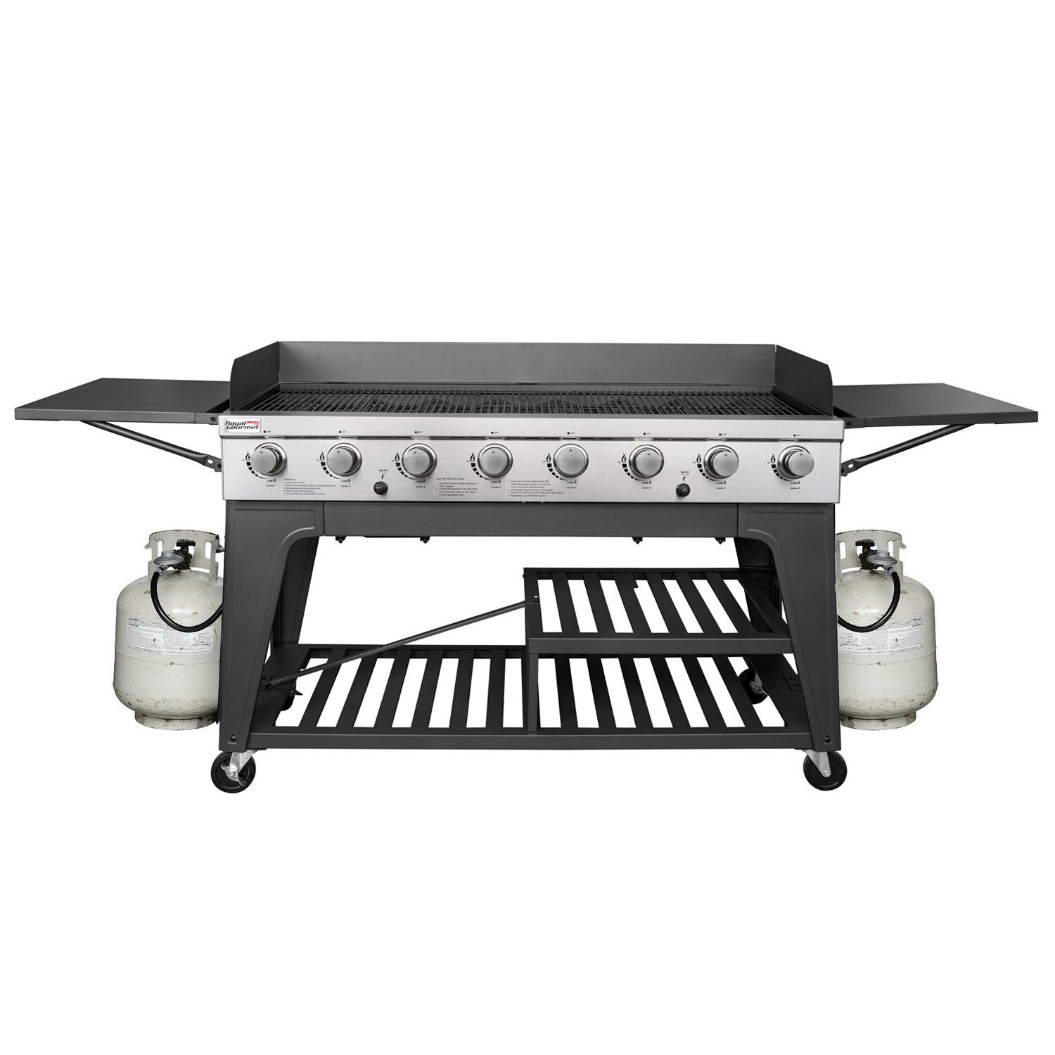 Royal Gourmet 8-Burner Propane Gas Grill with Side Shelves & Reviews ...