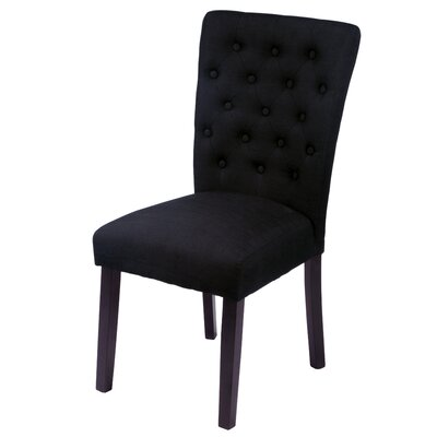 Bellatrix Side Chair Upholstery Color: Black by Andover Mills