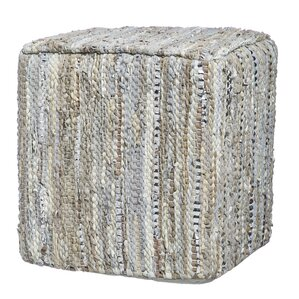 Dace Leather Pouf by Mistana