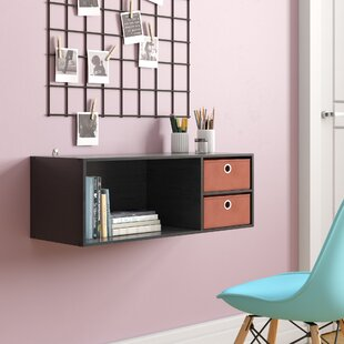 Brigette Wall Mounted Storage Desk Hutch