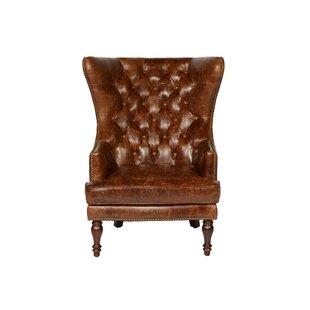 Lazzaro Leather Sedgefield Wingback Chair