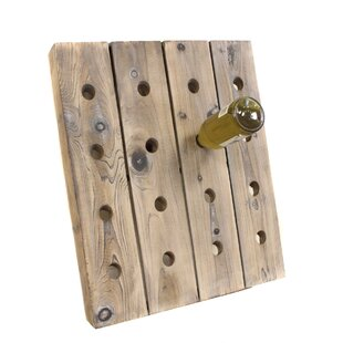 16 Bottle Wall Mounted Wine Rack by EC World Imports