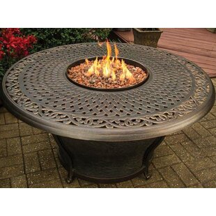Charleston Aluminum Gas Fire Pit Table by TK Classics No Copoun