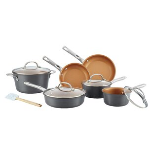 Ayesha Curry Hard Anodized Non-Stick Cookware Set (Set of 11)