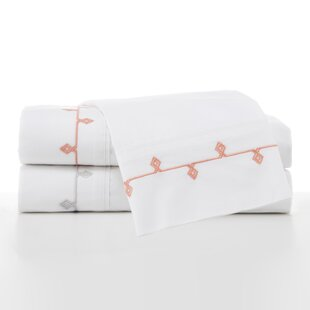 Sabina Embroidered 200 Thread Count 100% Cotton Sheet Set