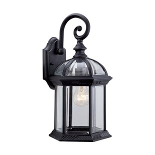Hausmann 1-Light Glass Shade Outdoor Wall Lantern By Three Posts Outdoor Lighting