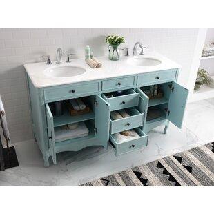 Genevieve 60 Double Bathroom Vanity Set by One Allium Way
