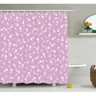 Josie Floral Heart Leaves Single Shower Curtain
