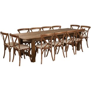 Gracie Oaks Pitre 13 Piece Dining Set