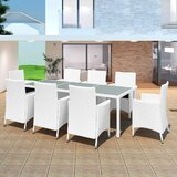 Alanis 9 Piece Dining Set with Cushions