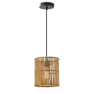 Alessio 1-Light Drum Pendant by Bay Isle Home