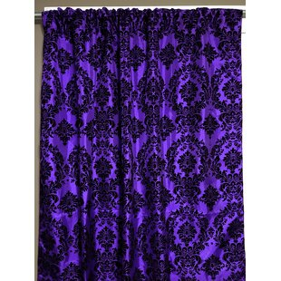 Damask Purple Curtains Drapes You Ll Love In 2021 Wayfair