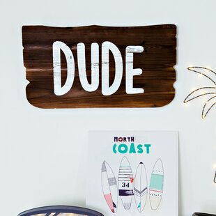 Dude Weathered Wood Plank Wall Décor