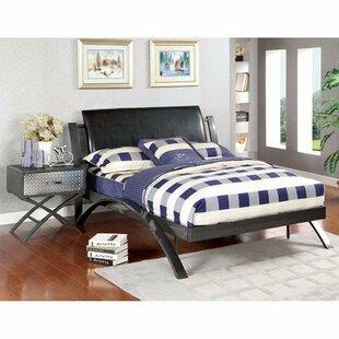 Orren Ellis Smidlova Full Leatherette Upholstered Sleigh Bed