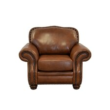 Parker Genuine Top Grain Leather Club Chair by Westland and Birch