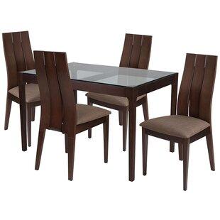 Ebern Designs Aiden 5 Piece Dining Set