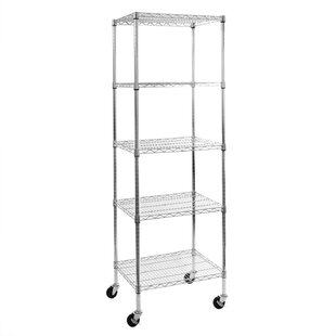 5-Tier UltraZinc NSF Steel Wire Shelving with Wheels