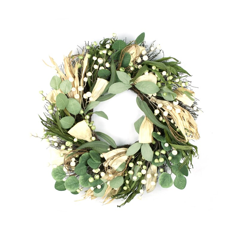 "Harvest 24"" Rattan Wreath"