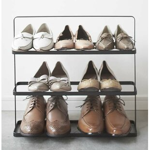 Best Reviews Espinal 3-Tier 9 Pair Shoe Rack By Rebrilliant