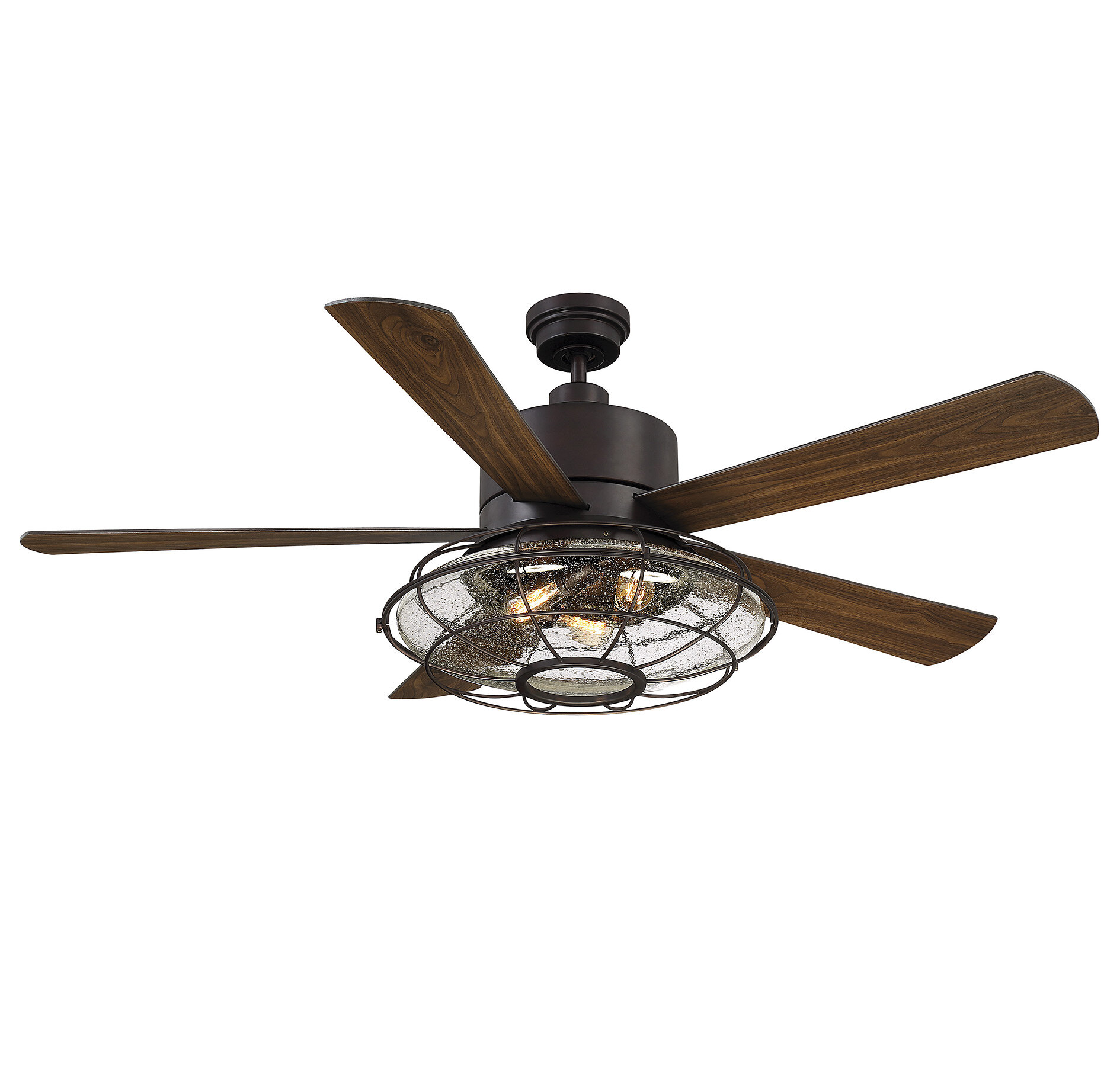 56 Roberts 5 Blade Caged Ceiling Fan With Remote Control And Light Kit Included Reviews Joss Main