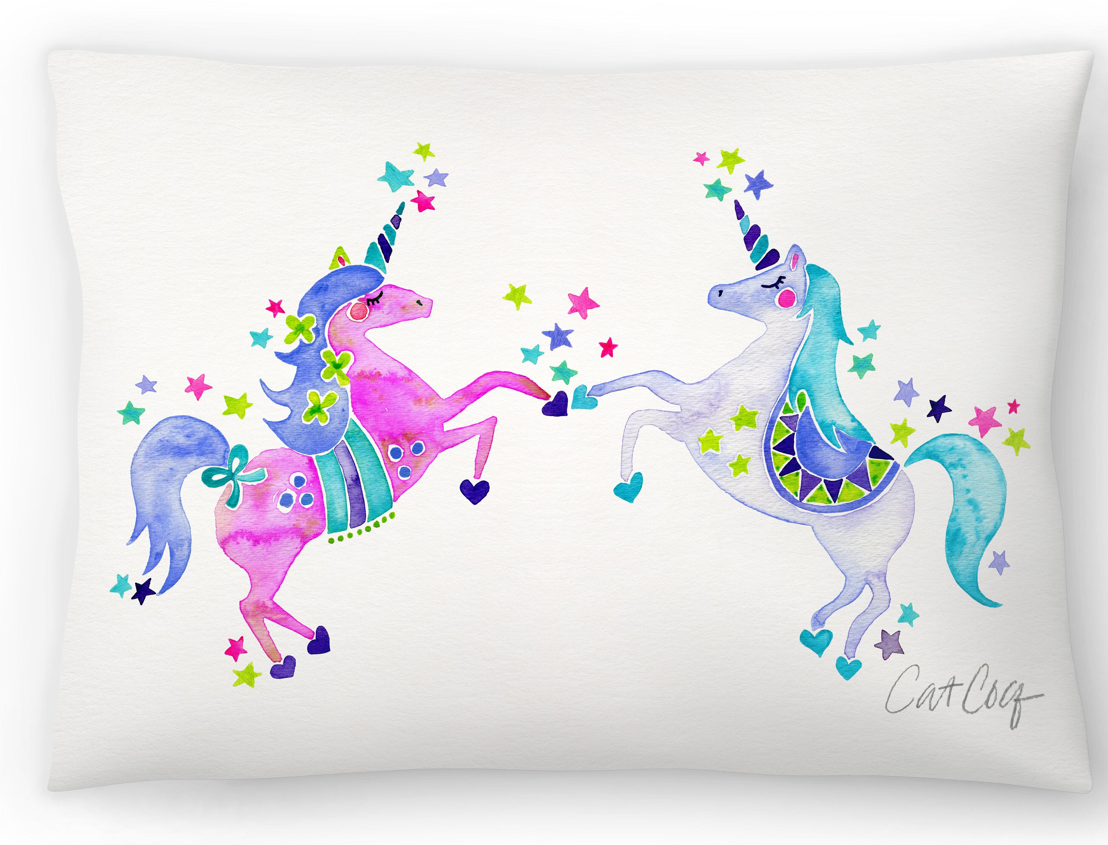 East Urban Home Pastel Unicorns Lumbar Pillow Wayfair