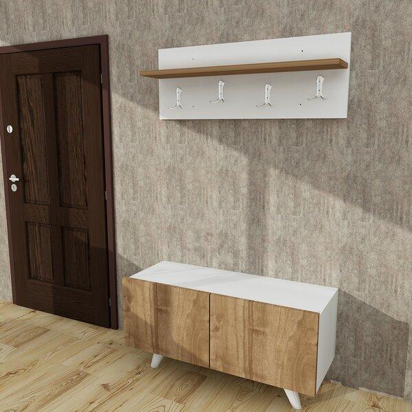 Wall Coat Rack With Mirror Wayfair Simple Traditional Dark Walnut Finish Wood Coat Rack