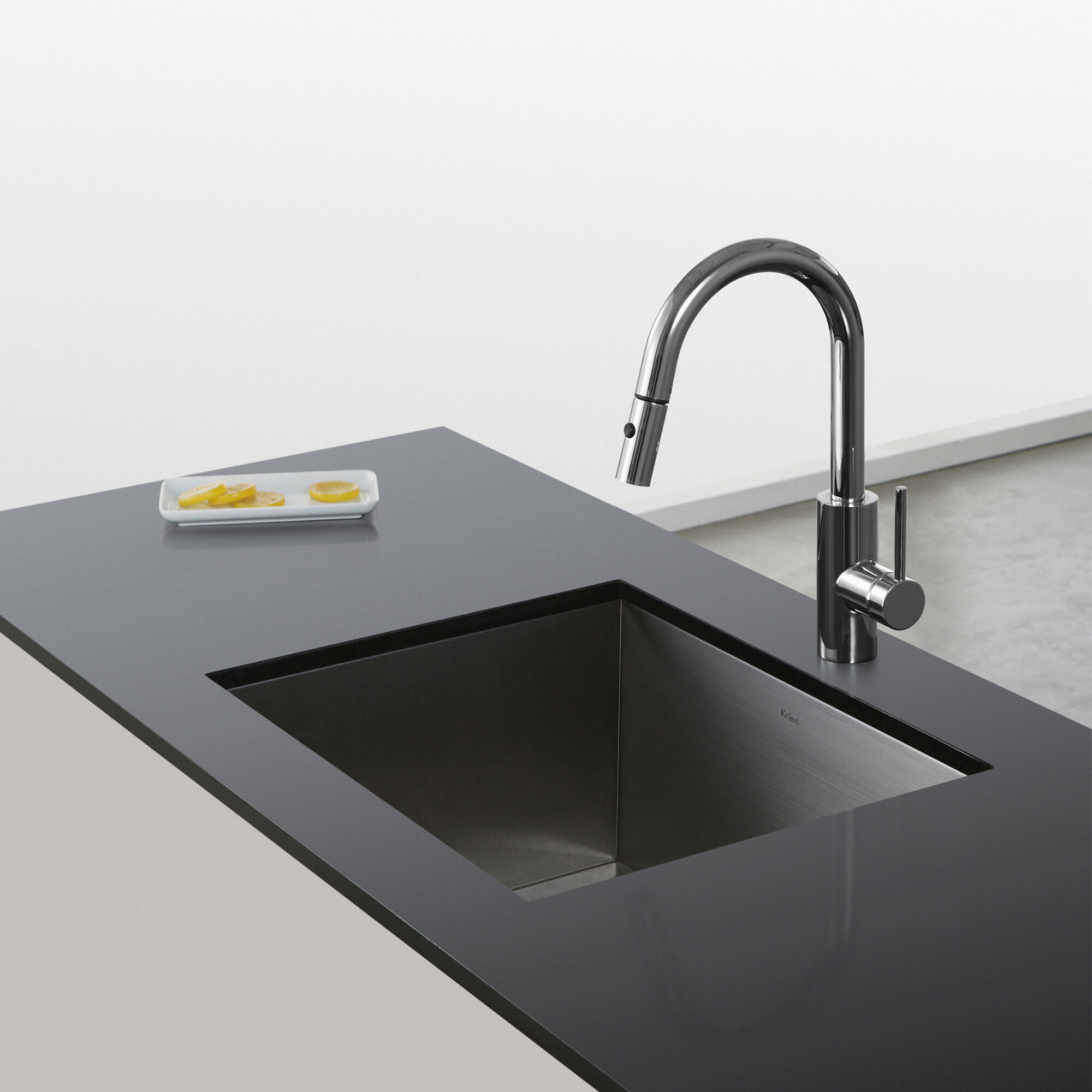 Kraus Oletto Pull Down Single Handle Kitchen Faucet & Reviews