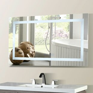 Orren Ellis Cassady LED Bordered Illuminated with tooth Speakers Bathroom/Vanity Mirror