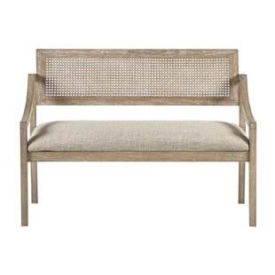 Find for Deleon Cane Arm Wood Bench By Bungalow Rose