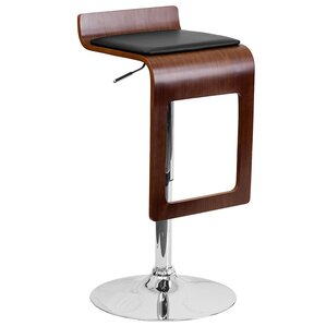 Catina Adjustable Height Swivel Square Seat Bar Stool by Wade Logan