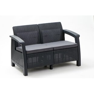 Berard Patio Loveseat with Cushions by Mercury Row