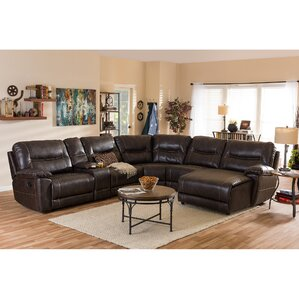 Baxton Studio Reclining Sectional by Wholesa..