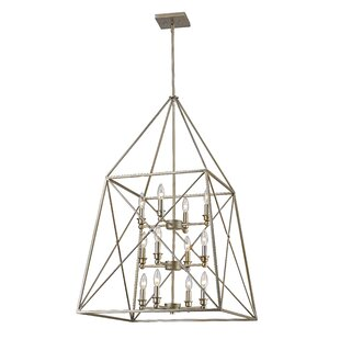 17 Stories Tolya 12-Light Metal Foyer Pendant