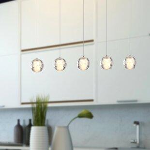 Veroniza 5-Light LED Kitchen Island Pendant by Wrought Studio
