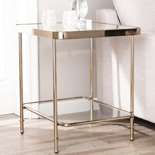Kimberlin Mirrored End Table by Mercer41