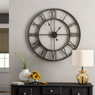 Best Gift for Dads Birthday Fathers Day Gift Vintage Gear Wall Clock 11 inches Round 3D Bamboo Non-Ticking Roman Gear Clock Rustic Style Wall Decoration Clock Battery Operated