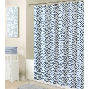 PEVA Greek Key Design Shower Curtain