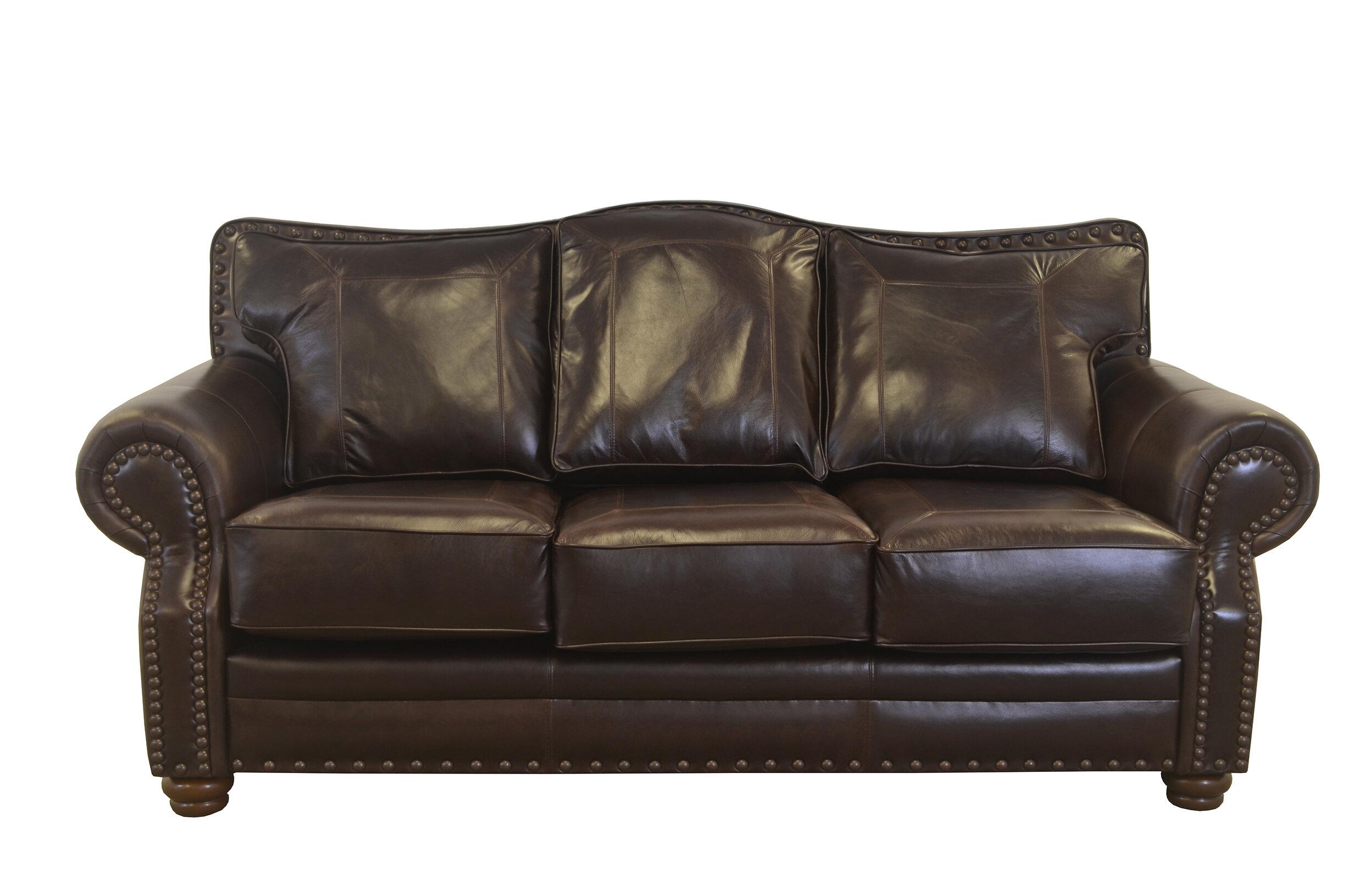 Westland And Birch Westford Leather Sofa Wayfair
